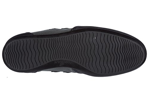 Hogan Uomo Scarpe Sneakers In Camoscio Scarpe Olympia Slash H 3d Blu