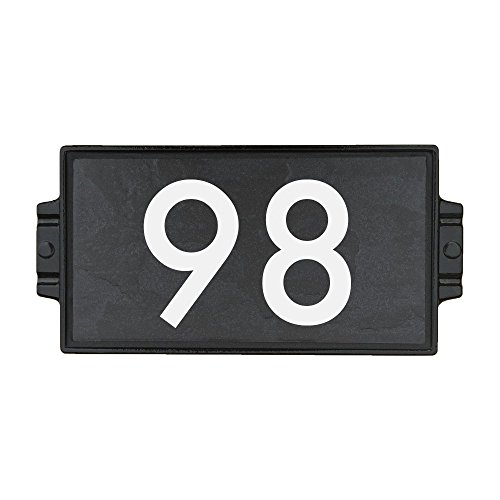 Charcoal Stone Address Plaque 2 by Craftsman House Numbers