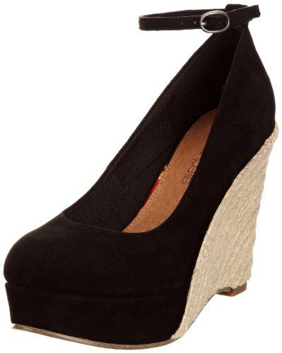 Pelle schwarz Ante De Henessey Mujer black Moda Negro In Para Zapatos 7Aqw5nTHSx