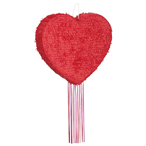 Red Heart Pinata, Pull String -