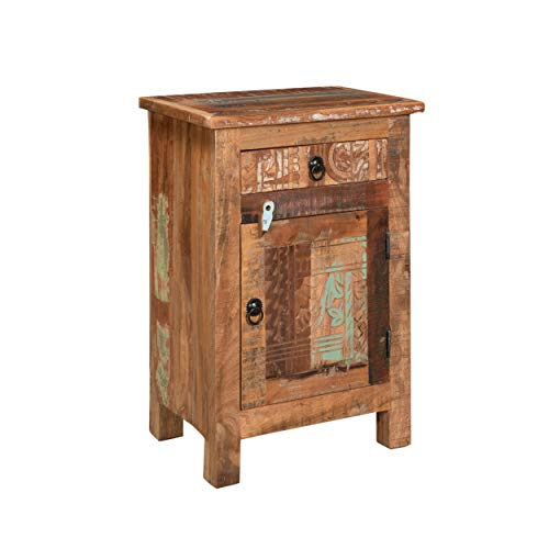 Nancy Distressed End Table, Distressed Paint (Recycled Furniture)