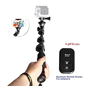 Professional Monopod Handheld Telescopic Camera Extender with Tripod Mount for Gopro 1 2 3 3+ Digital Camera and Cell Phone