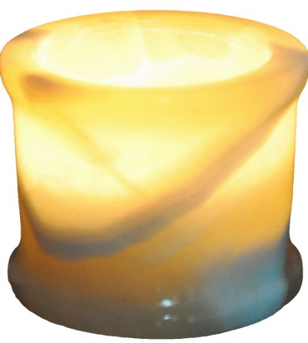 Egyptian Real Alabaster stone / marble Candle holder votive by CraftsOfEgypt