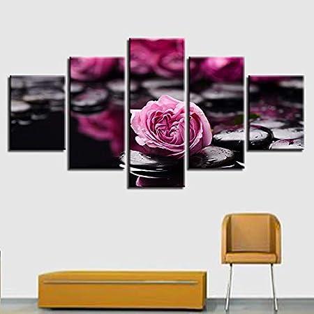BBQBQ Pintura Decorativa, Casa Dormitorio Multi-Flores Rosa ...