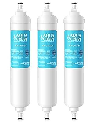 AQUACREST GXRTQR Replacement for GE GXRTQR Refrigerator Water Filter(Pack of 3)