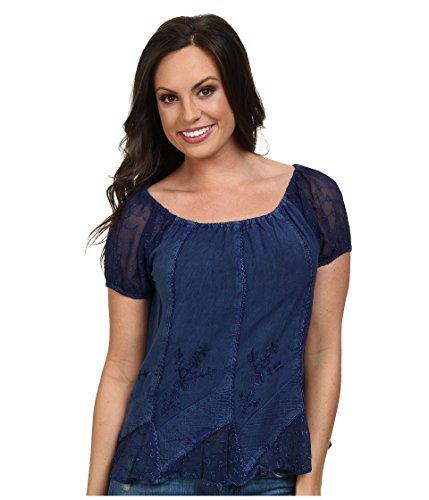 Scully Women's Honey Creek Caitlyn Top Blue Blouse