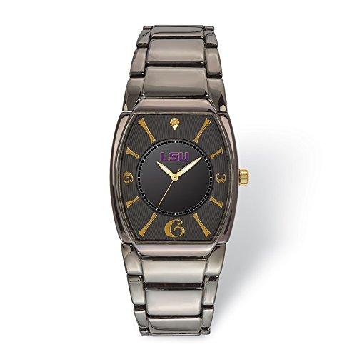 (Lex & Lu LogoArt Louisiana State University Executive Black-plated Watch)