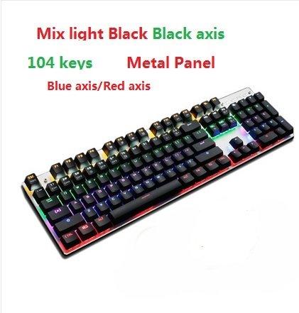 dd93da32072 Mix light black 104, Blue Switch : METOO Zero Mechanical keyboard 87/104  keys