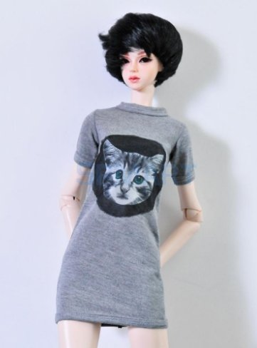 Fashion Short Sleeve Long t-Shirt Cloth For 1/3 BJD SD doll fit for 60 cm doll