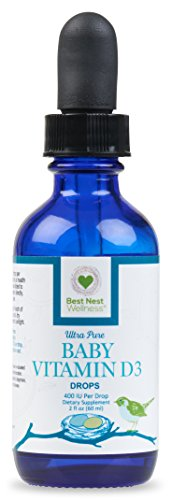 Best Nest Baby Vitamin D3 Drops  400 Iu Per Drop  2 Oz