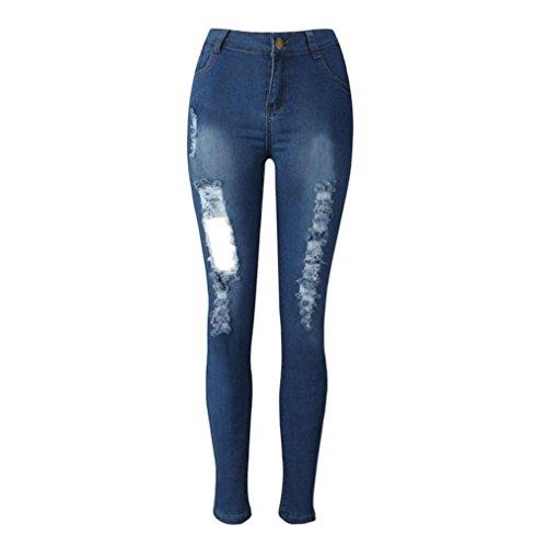 EláStico Jeans De Cintura Alta LHWY, Pantalones Vaqueros Skinny LáPiz Rotos Tejanos Pantalones