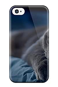 Top Quality Case Cover For Iphone 4/4s Case With Nice Black Siamese Cat Appearance
