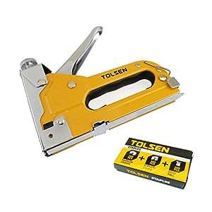 Cablematic - Grapadora de cajas cartón pistola de grapas ajustable de herramientas Tolsen