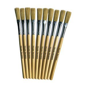 - 10 x PAPIER PAPER MACHE PASTE BRUSHES ART & CRAFT HOG HAIR SHORT HANDLE BRUSHES