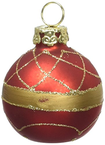 Kurt Adler Glass Place Card Holder Ornament, 1.57-Inch, Set of 6