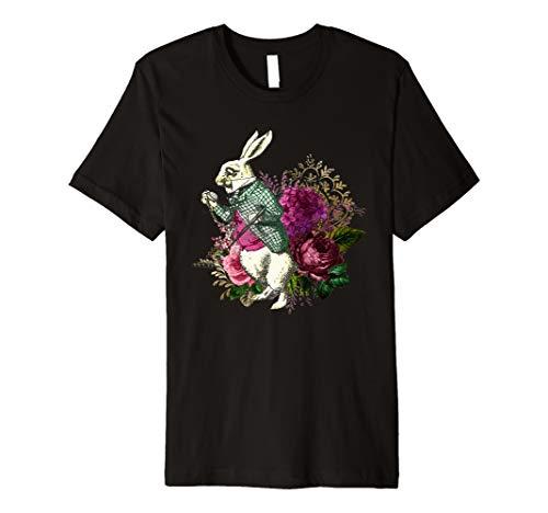 Alice Wonderland White Rabbit Pocket Watch Premium T-Shirt