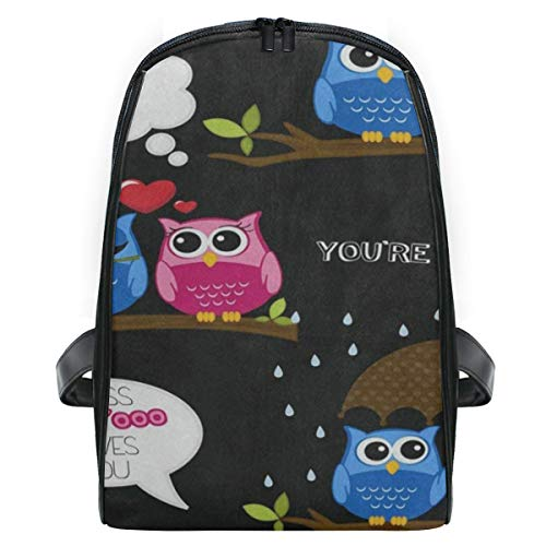 - Kid's Backpack Love You Owl Tree Umbrella Personalized Shoulders Bag Classic Lightweight Daypack for Girls/Boys