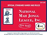 National Mah Jongg League 2014 Scorecard - Large Print (4 Pack)