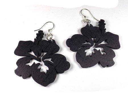Amazon Green Tree Jewelry Black Hibiscus Flower Wood Wooden