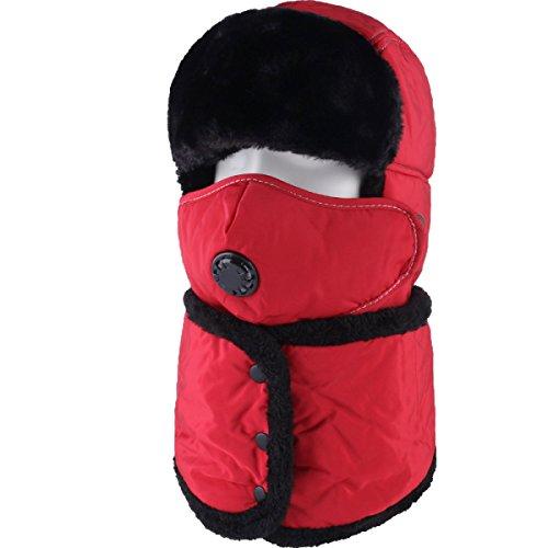 Sombrero De Bombardero Caliente De Invierno Para Hombre Sombrero De Piloto De Sombrero De Caza Orejera De Estilo Ruso Unisex Máscara A Prueba De Viento Sombrero De Esquí De Invierno Clásico Red