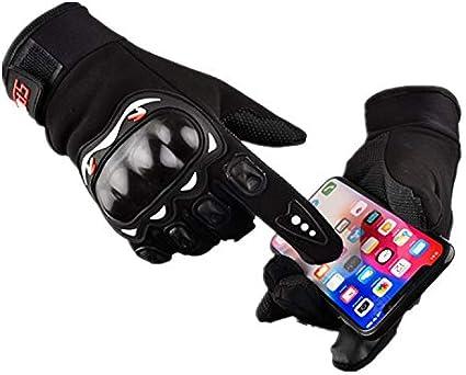 DONYKARRY Guanti Da Ciclismo Guanti Da Ciclismo Corti Guanti Da sci E Da Fotografia Guanti Da Moto In Tessuto nero, XL