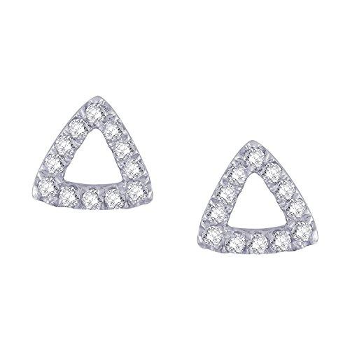 Giantti Diamant pour femme Boucles d'oreilles à tige (0.1812CT, qualité HSI, Gh-colour)