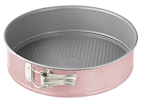 Zenker 9150 Springform ''Candy'' With Flat Base, Pink/Silver, 10.24'' by Zenker