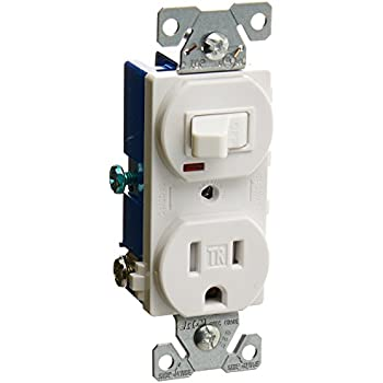 single pole switch and receptacle wiring eaton tr274w 3-wire receptacle combo single-pole switch ...