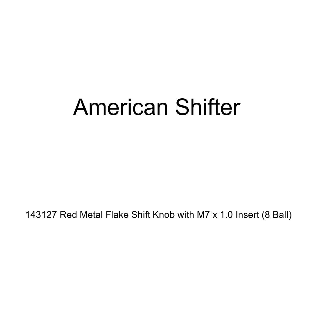 American Shifter 143127 Red Metal Flake Shift Knob with M7 x 1.0 Insert 8 Ball