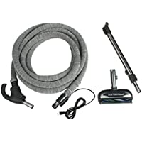 Cen-Tec Systems 90980 CT10 Quiet Drive Response Powerhead with Electric Hose with Hose Sock, 30-Feet