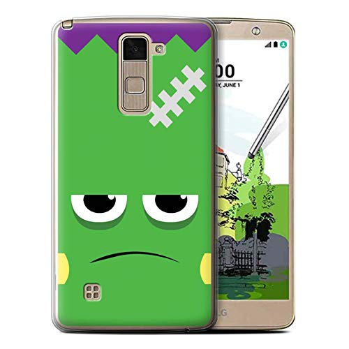 eSwish Gel TPU Phone Case/Cover for LG Stylo 2 Plus/MS550/K535 / Frankenstein Design/Halloween Character Collection -