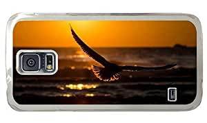 Hipster Samsung Galaxy S5 Cases DIY flying bird in sunset PC Transparent for Samsung S5