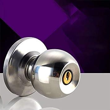 Pomo de puerta redondo de acero inoxidable con llave para ...