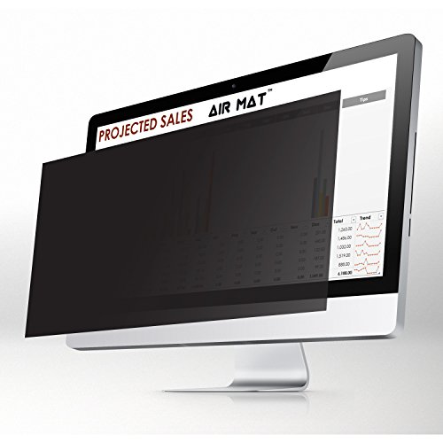 23.8 Inch Privacy Screen Filter for Widescreen Computer Monitor / LCD (16:9 Aspect Ratio). Best Anti Glare Protector Film for data confidentiality - compare to 3M (23.8W9) - CHECK DIMENSIONS CAREFULLY by Air Mat