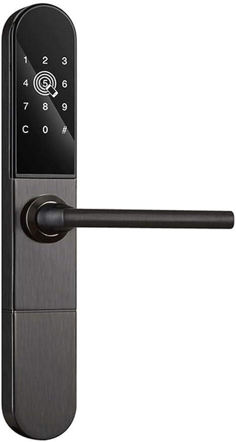 Cerradura inteligente - Cristal delgado de aluminio Cerradura inteligente Puerta corredera Wifi Bluetooth APLICACIÓN Tarjeta RFID Código digital Cerradura electrónica de la puerta, Negro,LEFT,1: Amazon.es: Hogar