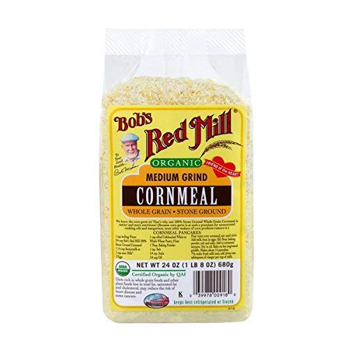 Cornmeal Pancake - Bob's Red Mill Organic Medium Grind Cornmeal, 24-ounce (Pack of 4)