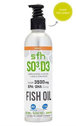 Super Omega 3 Fish Oil by SFH | Highly Concentrated 3500mg EPA & DHA | Best Tasting Liquid Fish Oil for Heart Health & Wellness | 100% All Natural Soy Free Gluten Free (Orange, 8oz) by SFH