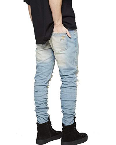 Moda Morbido Fit Vintage Abbigliamento Strappati Slim Elasticizzato Semplicemente Jeans Pantaloni Alsbild Skinny Denim Uomo Stile E In OwnFIpxqBv