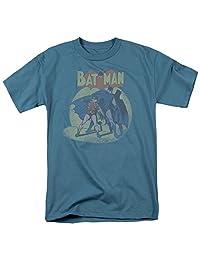Batman And Robin T-shirt - In The Spotlight DC Comics Adult Slate
