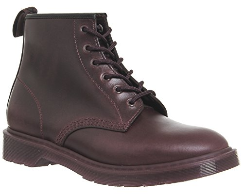 Dr.Martens Mens 101 6 Eyelet Leather Boots Oxblood