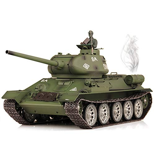 Xuess 2.4Ghz Military Remote Control Soviet T-34 World War II Remote Control Tank 1:16 Super Large Alloy Model Remote…