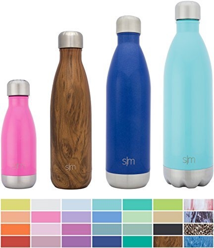 Simple Modern Stainless Steel Vacuum Insulated Double Walled Wave Bottle  25Oz   Pacific Blue