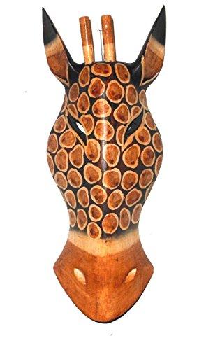 OMA Giraffe Mask African Safari Jungle Wall Hanging Decor Hand Painted, FEDERAL (TM) BRAND
