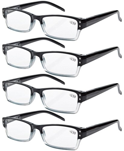 Costco Glasses Quality - Eyekepper 4-pack Spring Hinges Rectangular Reading