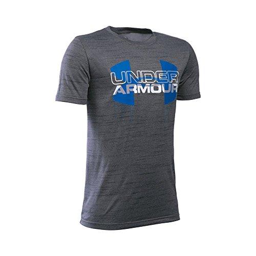 Under Armour Boys' Tech Big Logo Hybrid T-Shirt, Graphite (042), Youth Small