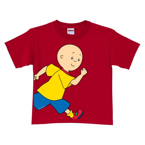 Caillou Running Red T-Shirt Size 4T