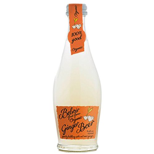 Belvoir Fruit Farms Organic Ginger Beer, All Natural Fruit Juice, 8.4-oz Glass Bottles (12 Pack) - Organic Ginger Beer