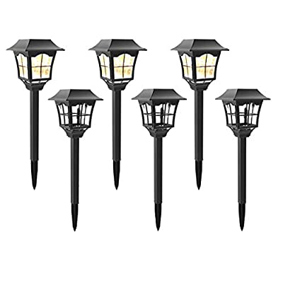 MoSolar Solar Powered LED Outdoor Pathway Lights, Landscape Path Lights, Automatic Led for Patio, Yard, Garden and Christmas Decorations