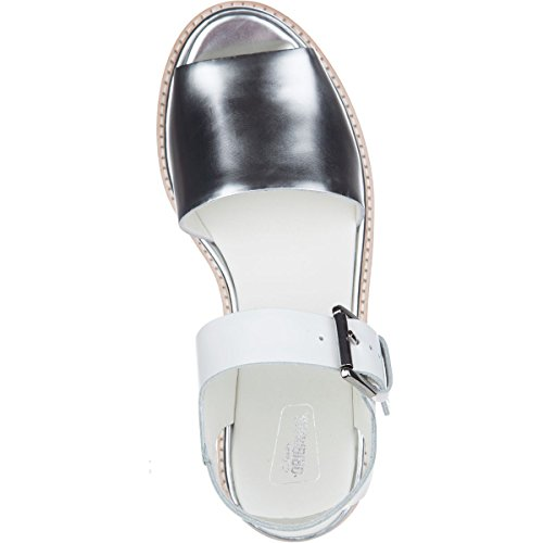 Clarks Femmes Madlen Sandale En Cuir Blanc