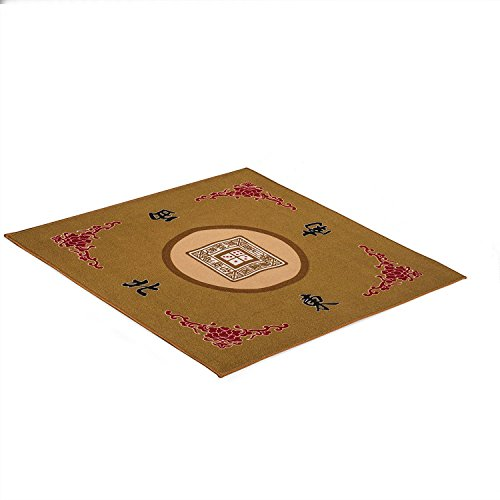 OurGame Table Cover for Poker, Card Games, Board Games, Tile Games, Dominoes, and Mahjong (Mah Jong, Mahjongg, Mah-Jongg, Mah Jongg, Majiang), 30.8 x 30.8 Inches, Yellow by OurGame